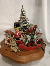 Wooden Music Box Christmas Schmid Musical Collectibles Toy Land Decor 1983