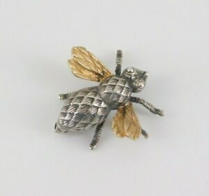 Sterling Silver & 14k Yellow Gold Bee Pin