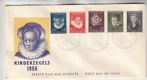 Netherlands Kinderzegels 1956 First Day Cover