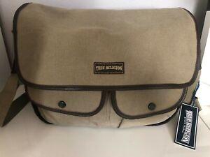 New True Religion Messenger Bag Color Olive One Size