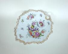 XXL Plate with Flower painting Dresden um 1890