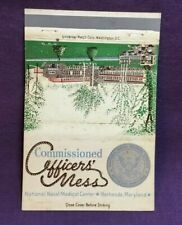 Advertising Matchbook Cover US NAVY COMMISSIONED OFFICERS MESS BETHESDA MARYLAND