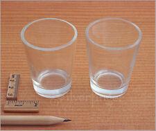 2x SHOT GLASS Set —Clear Shot Glasses —Whiskey Liquor Vodka Drinking Shotglasses