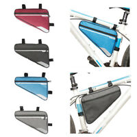 Bicycle Cycling Front Frame Triangle Bag Bike Tube Pouch Holder Saddle Panniers