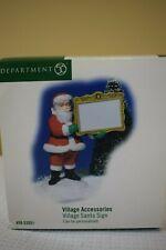 Dept 56 Village Santa Sign Hallmark blank #53051 New (f819P)