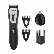 Conair LITHIUM Beard Moustache Ear Nose Trimmer Stainless steel blades 2 battery