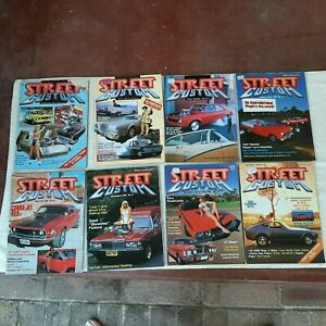 Vintage Street and Custom magazines. Lot of 8. 1986 -1988.