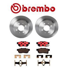 Rear Solid Disc Brake Rotors & Pads Brembo for Acura Integra Honda Civic del Sol