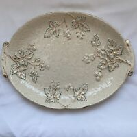 Antique Avalon Faience Chesapeake Pottery Majolica Baltimore Platter 12.5 X 8.5""