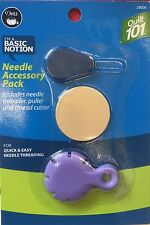 Needle Accessory Pack Needle Threader Puller & Thread Cutter For Sewing By Dritz
