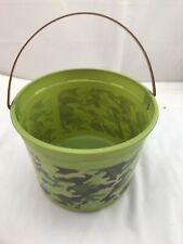 Plastic Green Camo Bucket Easter Play Gift Basket