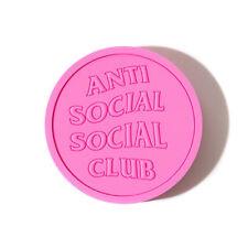 Anti Social Social Club ASSC Logo Pink PVC Coaster 1 PC