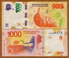 Argentina, 1000 Pesos, ND (2017), P-New, A-Series, New Design UNC