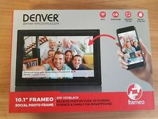 Denver PFF-1011 Digitaler WiFi-Bilderrahmen,10.1 Zoll,1280x800 Pixel,8GB,schwarz