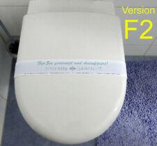 500 farbige WC-Banderolen Desinfektionshinweis Hygiene Garantie Toiletten F2***
