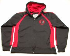 Nebraska Huskers Full Zip Hoodie Men's Medium Hooded Track Jacket Red Black