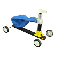DIY Science Equipment Balloon Powered Trolley Recoil Car Model Educational Toys