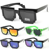 CPU 8 Bit Pixel Square Geek Novelty Sunglasses Vintage UV400