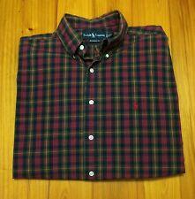 Ralph Lauren Classic Fit Polo Shirt - Green Red Blue - XL - Southern