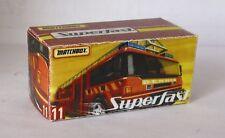 Repro Box Matchbox Superfast Nr.11 Dennis Sabre neue Box