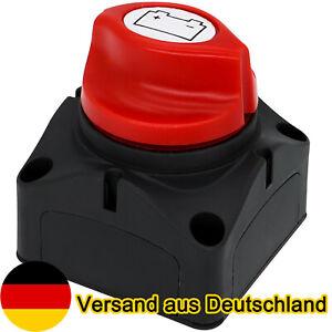 Auto Batterie Trennschalter Hauptschalter Notaus Poltrenner Schalter 12V-48V DE