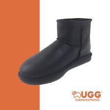 UGG Mini Classic Sheepskin Ankle BOOTS Mens Ladies Black
