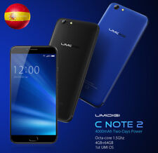 "5.5"" UMI OS 4G 4000mAh 64GB+4 13MP Android7.0  Móvil Smartphone UMIDIGI C NOTE 2"