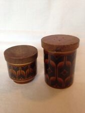 Vintage Hornsea Pottery Heirloom Pepper Pots. Two Different Designs.