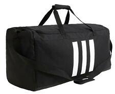 Adidas Unisex 3-Stripe Large Duffel Bags Black Casual Shoulder Bag Sacks GE1235