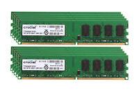 Lot Crucial 2GB 4GB 8G 2Rx8 PC2-5300 DDR2 667Mhz 240pin DIMM RAM Desktop Memory