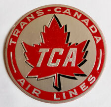 Vintage Trans Canada Airlines airline luggage label