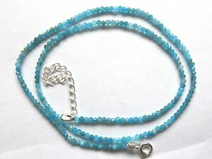 Natural Apatite 925 Sterling Silver Delicate Handmade Necklace For Women Beaded