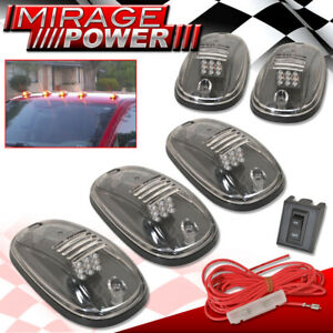 For Mazda For Toyota 5Pcs Clear Lens Amber Led Roof Top Suv Parking Light Marker