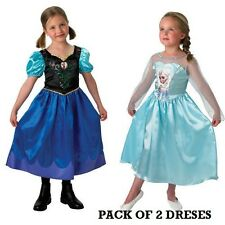 Disney Frozen Anna and Elsa Costume Twin Pack MEDIUM  (5-6 Years) FREE UK P&P