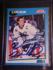 Doug Wilson Orig signed autograph 1991 Score #551 Hockey Trading Card w/COA!