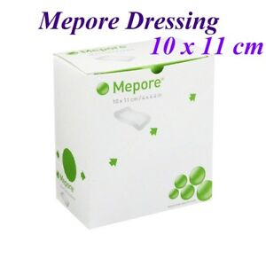 Mepore Self Adhesive First Aid Surgical Dressings for Burns Wounds - 10 x 11cm