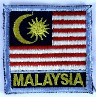 MALAYSIA Flag Sew On Vintage Collectable Patch Badge Embroidered Souvenir
