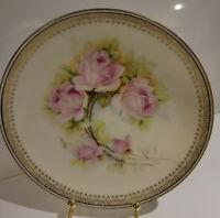 Vintage Floral Artist Signed Hand Painted Porcelain Plate O & E.G. Royal Austria