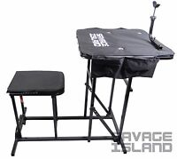 Shooting Table Bench Rest Rifle Target Range Folding Gun Rest Padded Seat Chair