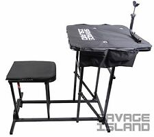 Shooting Table Bench Rest Rifle Target Range Folding Gun Rest Padded Seat Chair