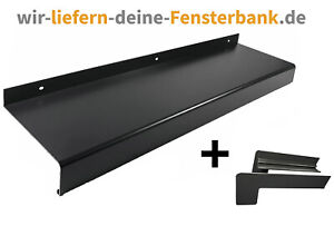 Fensterbank Klinker Seitenteile 165 mm in Anthrazit