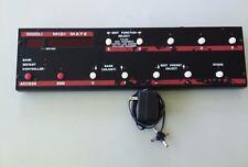 ROCKTRON MIDIMATE UNIVERSAL MIDI CONTROLLER &POWER SUPPLY IN WORKING CONDITION