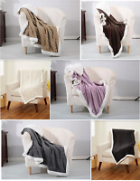 "Soft Plush Reversible Mermaid Textured / Sherpa Lined Throw Blanket 50"" x 60"""