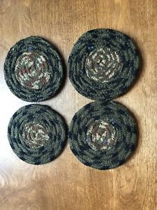Country Farmhouse Braided Coasters Set of Four !