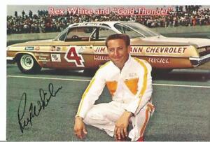 "Rex White and ""Gold Thunder"" Autographed 4x6 Vintage Postcard L@@K"