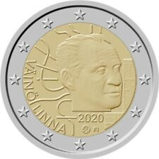 Finland 2020: NEW 2 Euro (BU) cc coin #100 YEARS VÄINÖ LINNA# FROM ROLL, CAPSULE