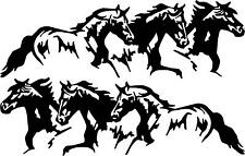 3 RUNNING HORSES  pony colt cowboy  LEFT OR RIGHT  VINYL DECAL STICKER 3010