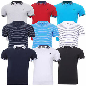 Mens Kangol Polo Shirt Short Sleeve Badminton Golf Casual Top Sport Small - 6XL