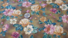 By The YARD Quilting Sewing Fabric Flannel English Cottage Northcott  Flowers