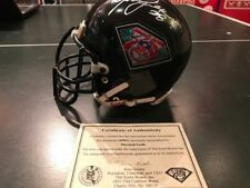 NFL 75 Seasons Mini Helmet signed by Merlin Olsen & Marshall Faulk COA- RARE!!!!